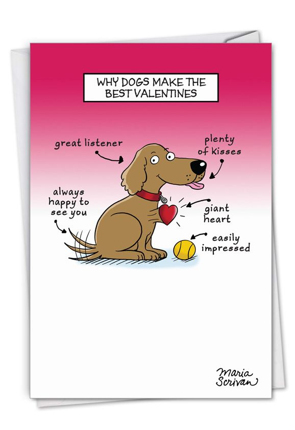 Dog Lovers Valentine's Day Card