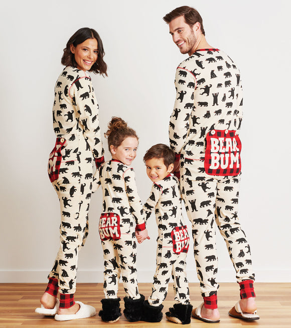Black Bear Adult Unisex Union Suit Pajamas