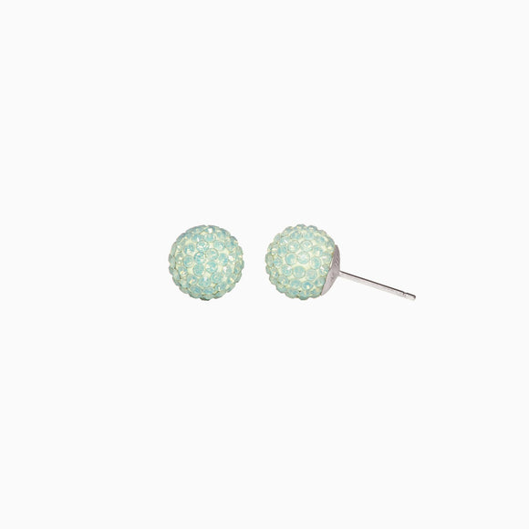 Succulent Sparkle Ball Stud Earrings