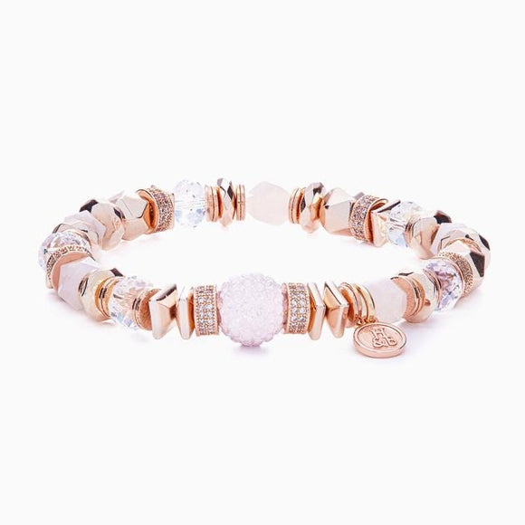 Rose Water Opal Sparkle Ball Luxe Bracelet