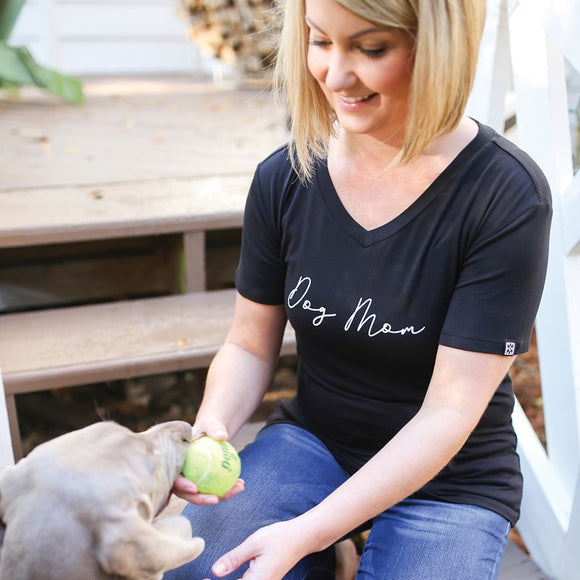 Dog Mom Ultra Soft V-Neck T-Shirt