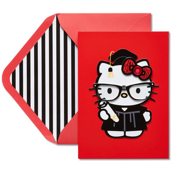 Hello Kitty Graduation Card