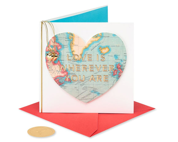 Love Is Wherever You Are Valentine's Day Card