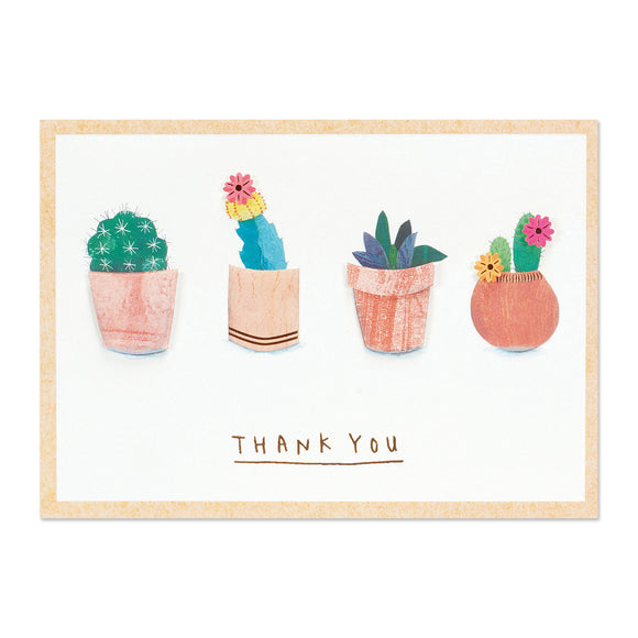 Succulents Thank You Card