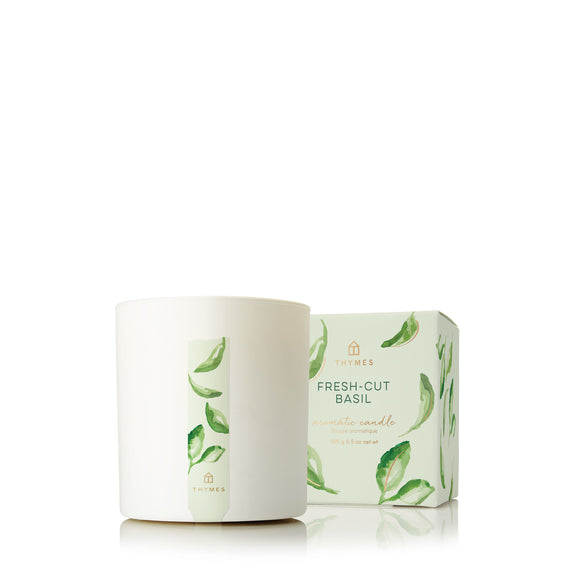 Thymes Fresh-Cut Basil Aromatic Candle