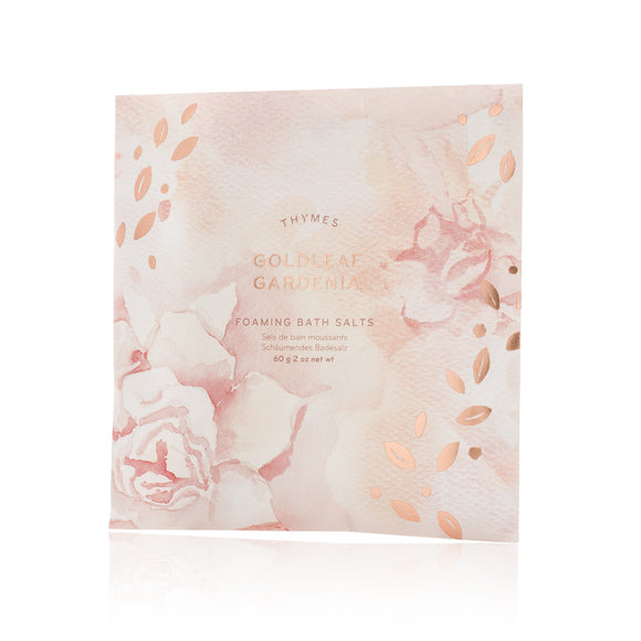 Thymes Goldleaf Gardenia Foaming Bath Salts Envelope