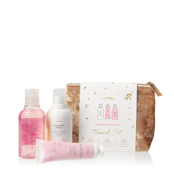 Thymes Kimono Rose Value Gift Set With Beauty Bag