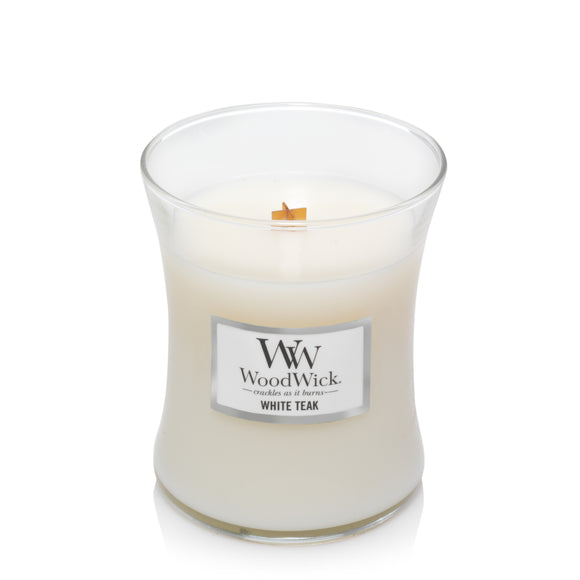 White Teak WoodWick® Candle