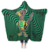 Roadrunners Retro Mascot Hooded Blanket