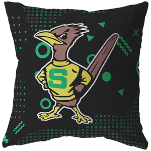 Roadrunners Retro Mascot Pillow