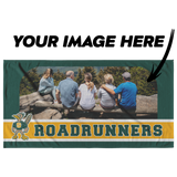 Roadrunners Modern Mascot Personalized Beach Towel