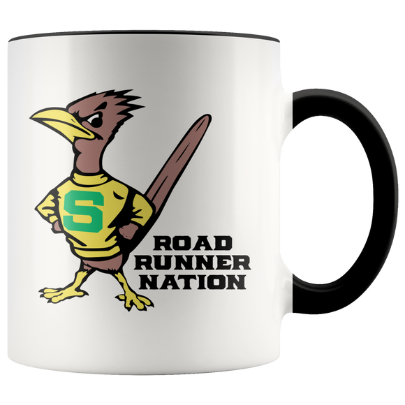 Roadrunners Retro Mascot Accent Mug