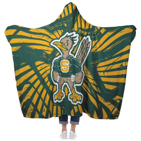 Roadrunners Modern Mascot Hooded Blanket
