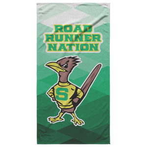 Roadrunners Retro Mascot Beach Towel