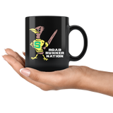 Roadrunners Retro Mascot 11oz Black Mug