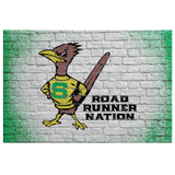 Roadrunners Retro Mascot Rectangle Canvas Wall Art