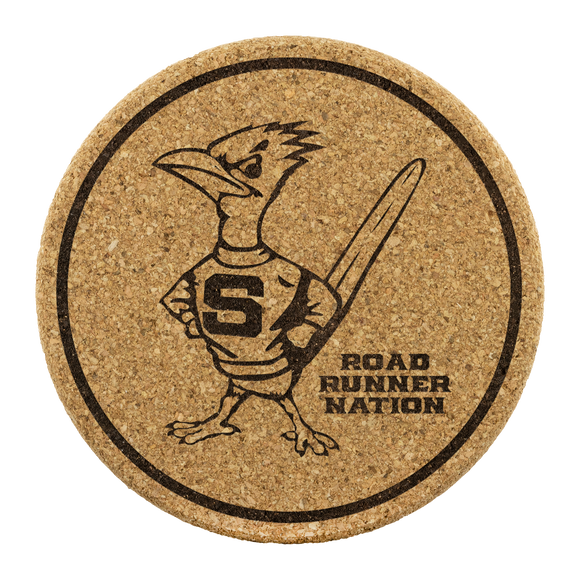 Roadrunners Retro Mascot Cork Coasters