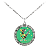 Roadrunners Retro Mascot Stone Coin Necklace