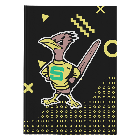 Roadrunners Retro Mascot Hardcover Journal