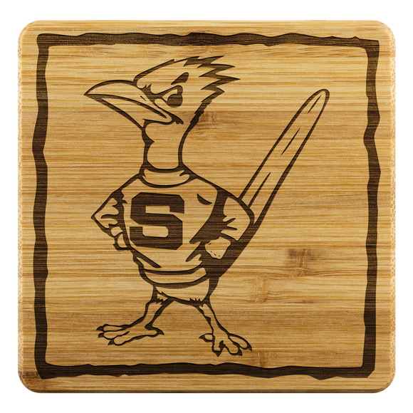 Roadrunners Retro Bamboo Coasters