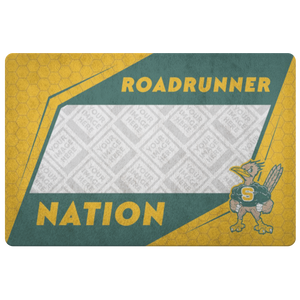 Roadrunners Retro Mascot Personalized Doormat
