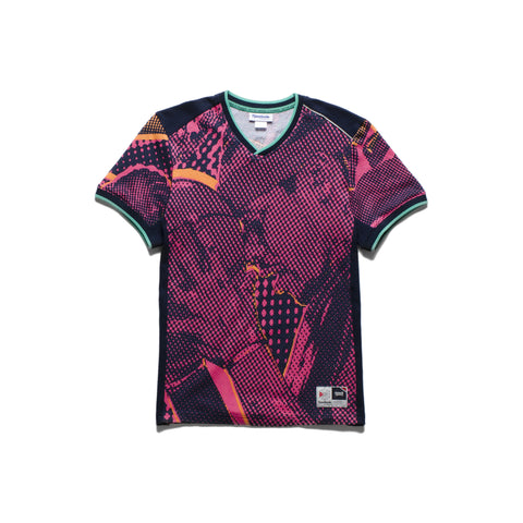 Mesh engineered all-over Iverson print graphic jersey. Reebok starcrest ... click for more information