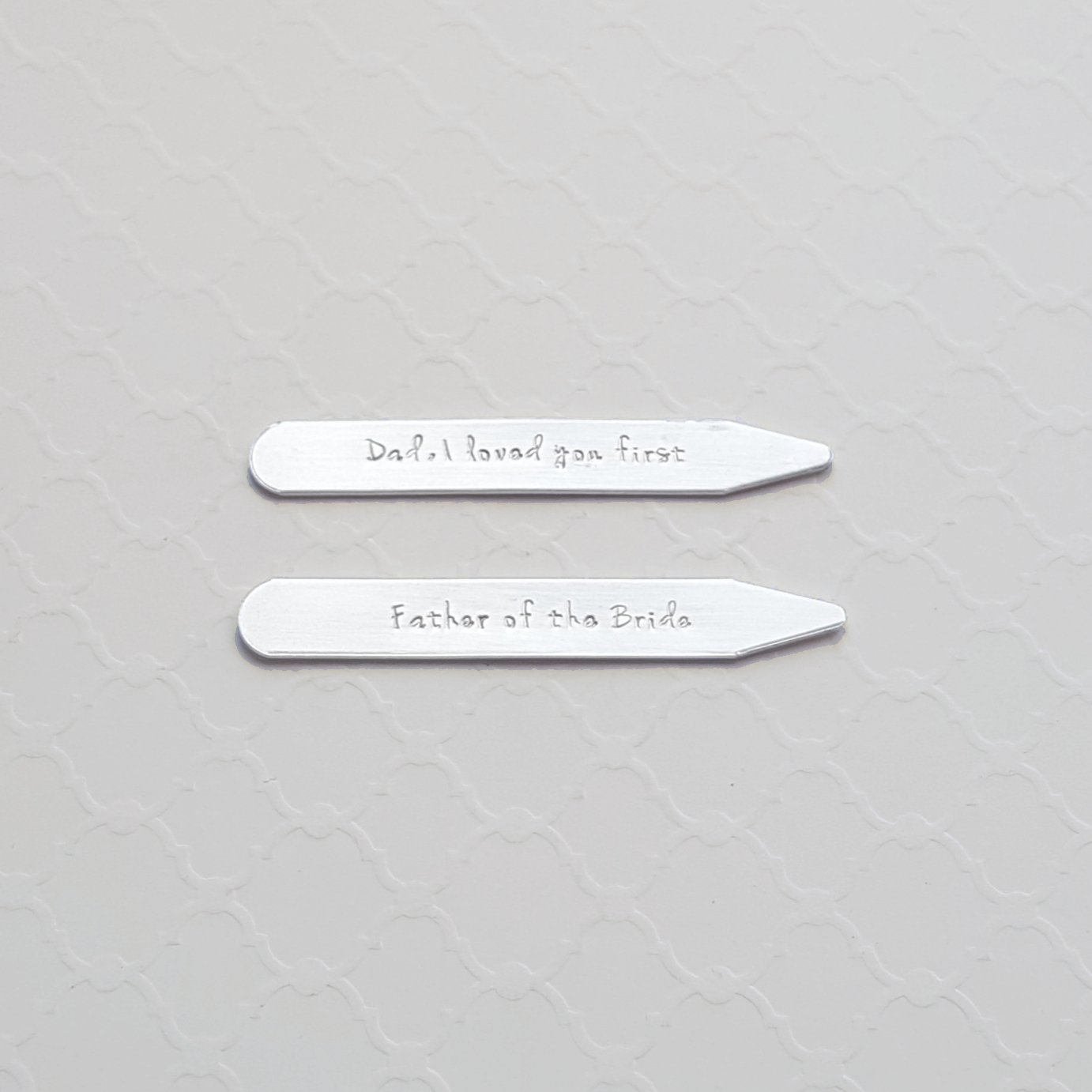 sterling silver personalized collar stays