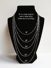 Load image into Gallery viewer, Mom-daughter sterling birthstone necklace set