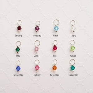 Mom-daughter sterling birthstone necklace set