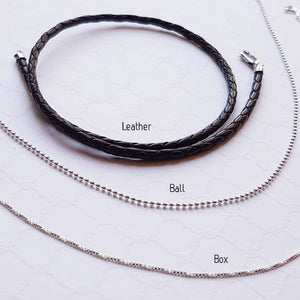 Sterling unisex washer necklace