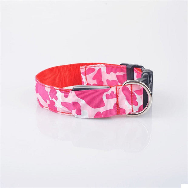 Anti-Lost Camouflage Led Light Dog Collar