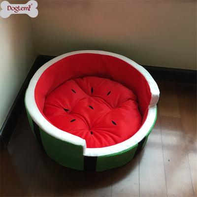 Cute Kennel House Warm Cotton Watermelon Modeling Dog Bed