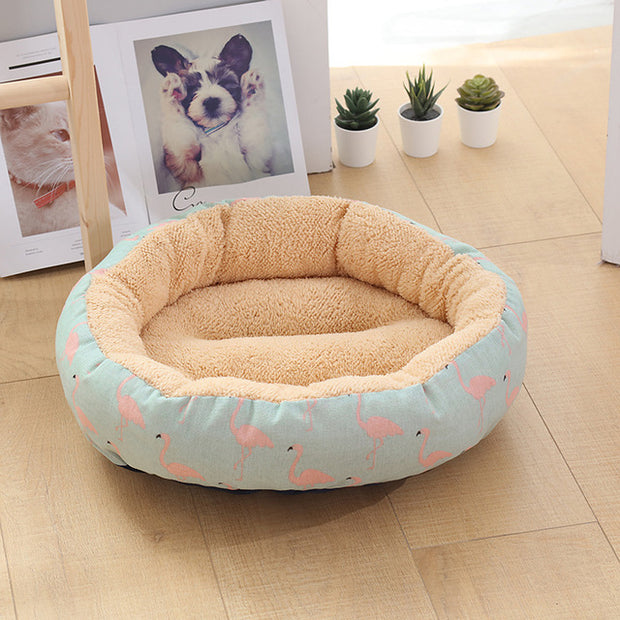 Winter Circle Dog Bed