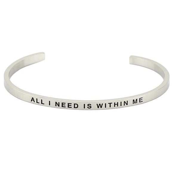 All I Need Is Within Me Affirmation Bracelet