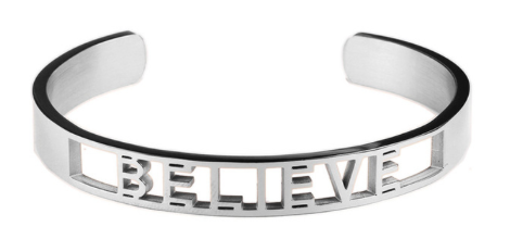 Believe Affirmation Bold Bangle Bracelet