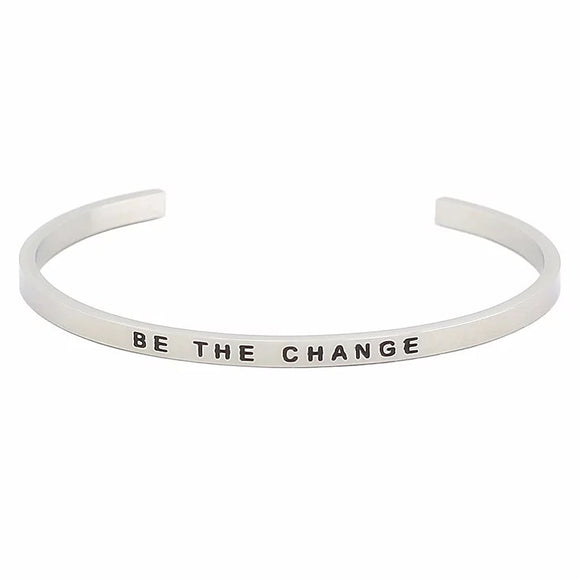 Be The Change Affirmation Bracelet