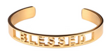 Blessed Affirmation Bold Bangle Bracelet
