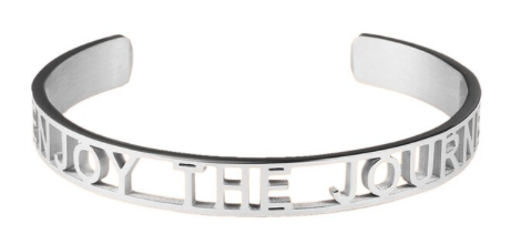 Enjoy The Journey Affirmation Bold Bangle Bracelet
