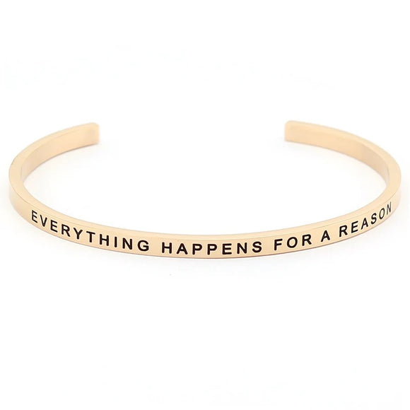 Everything Happens For A Reason Affirmation Bracelet