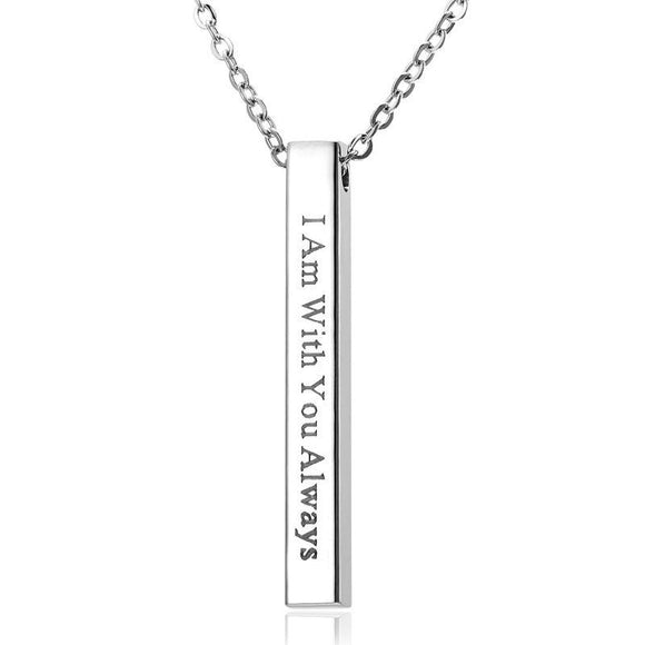 I Am With You Always Pendant Affirmation Necklace