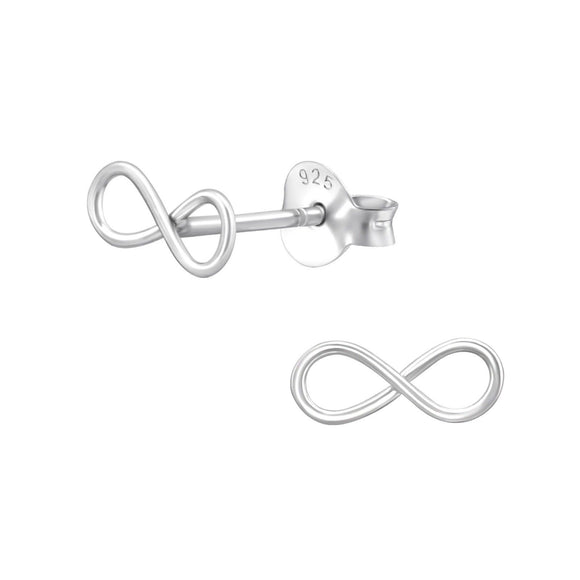 Infinity Sterling Silver Stud Earrings