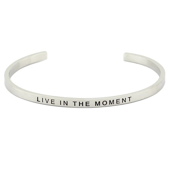 Live In The Moment Affirmation Bracelet