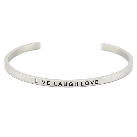 Live Laugh Love Affirmation Bracelet