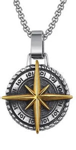 Compass Pendant Gold Necklace