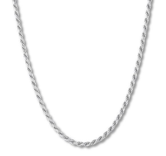 Rope Stainless Steel 3mm Necklace