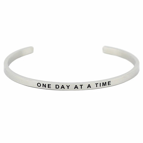 One Day At A Time Affirmation Bracelet