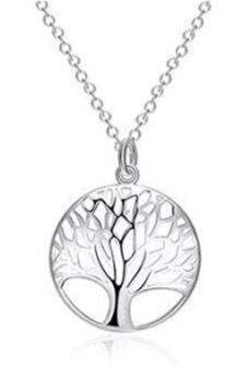Tree Of Life Pendant Sterling Silver Necklace