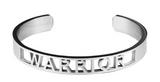 Warrior Affirmation Bold Bangle Bracelet