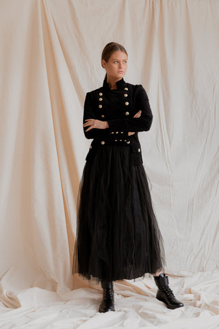 Theodore Military Jacket | Layered French Tulle Skirt