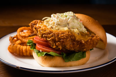Buttermilk Chicken Cheese Burger | Broadway American Diner